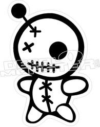 Voo Doo Doll Decal Sticker