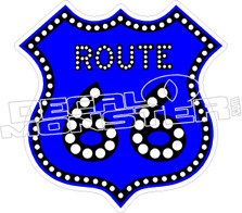 Route 66 Decal Sticker