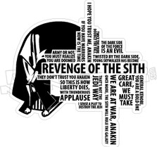 Star Wars Revenge of the Sith Wall Art Decal Sticker