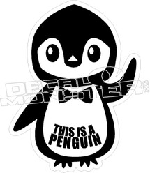 This is a Penguin Decal Sticker