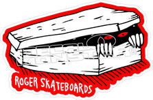 Roger Skateboards Coffin Decal Sticker