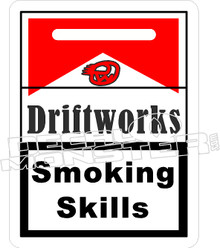 Driftworks Smoking Skills Decal Sticker