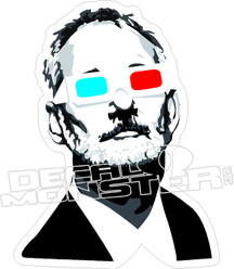 Bill Murray Chive 3D Glasses Decal Sticker