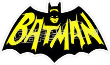 Batman Old School Decal Sticker