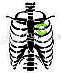Chive Skeleton Heart Decal Sticker