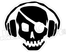 Pirate Radio Headphones Decal Sticker
