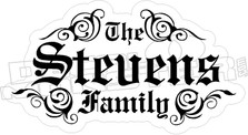 Family Name Etched Decal Sticker