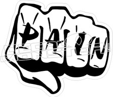 Pain Fist Decal Sticker