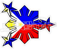 Philippines Cool Flag Die Cut Decal Sticker