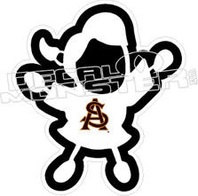 Cheerleader Fan Decal Sticker