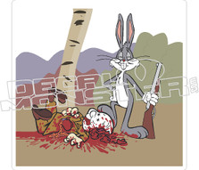 Bugsbunny Shoot Alymer Fudd Decal Sticker