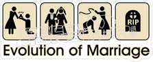 Evolution of Marriage Decal Sticker