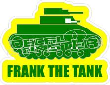 Frank The Tank Decal Sticker