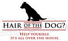Hair of the Dog House Decal Sticker