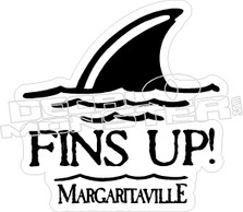 Fins Up Shark Decal Sticker