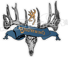 Browning Wicked Skull Decal Sticker