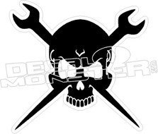 Ironworker Skull Decal Sticker