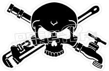 Plumber Skull Cross Bones Decal Sticker