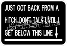 Back From Hitch Dont Talk Decal Sticker