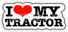 I Love My Tractor Decal Sticker