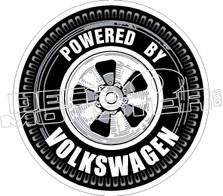 Powered By Volkswagen Decal Sticker