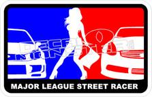 Major Leaque Street Racer Decal Sticker