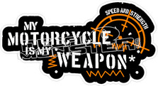 Motorcycle Weapon Decal Sticker