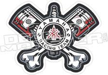 Yamaha Racing Team Cross Bone Pistons Decal Sticker
