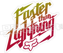 Faster Than Lightning Fox Decal Sticker