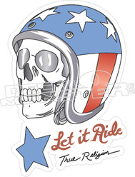 Evil Knievel Let It Ride Decal Sticker