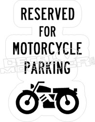 Mortorcycle Parking Only Decal Sticker