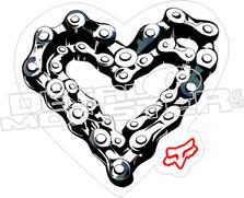 Fox Chain Heart Decal Sticker
