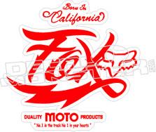 Fox Moto Decal Sticker