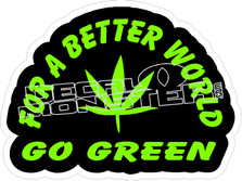 Better World Go Green Decal Sticker