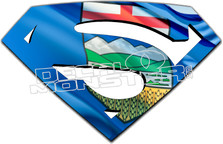 Alberta Superman Decal Sticker