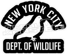 New York City Dept Of Wildlife Decal Sticker