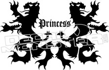 Princess Dragon Crest Decal Sticker