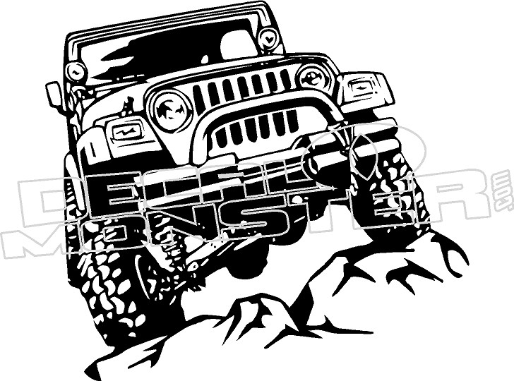 Jeep Silhouette Wall Decal Sticker Decalmonster Com