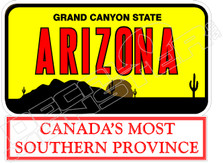 Arizona Canadas Southern Province Decal Sticker
