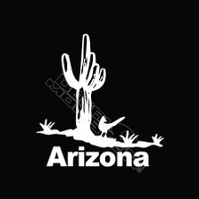 Arizona Roadrunner Cactus Decal Sticker