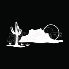 Cactus Desert Mountain Decal Sticker