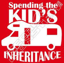 Spending Kids Inheritance Decal Sticker