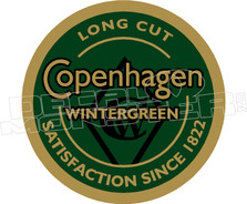 Copenhagen Chewing Tobacco Decal Sticker