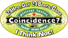 24 Hrs 24 Beers Coincidence Decal Sticker