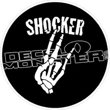 Shocker Skeleton Hand Decal Sticker