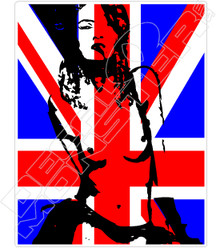 Britain Pin Up Girl Decal Sticker
