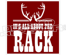 All About The Rack Decal Sticker