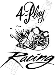 4Play Racing Decal Sticker