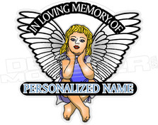 In Memory of Girl Angel Decal Sticker