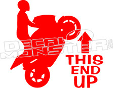 This End Up Superbike Decal Sticker